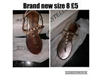 Brand new ladies sandals size 8