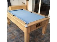 Pool table traditional 6ft slate bed complete with cues, balls and many extras