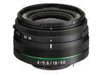 Brand New PENTAX Lens 18-50 mm f/4-5.6 DA-L DC WR RE