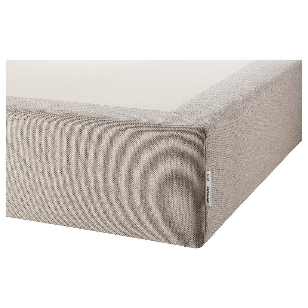 Double bed ikea hesseng mattress and evenskjer mattress base plus legs standard double 135x190 - Bed cm ...