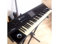Excellent condition KORG M50 61KEY synthesizer + PEDAL + STAND