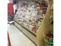 Shop greeting card display 800 plus cards, Racking, Shelves, basket
