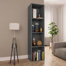 Book Cabinet/TV Cabinet Grey 36x30x143 cm Chipboard-800146