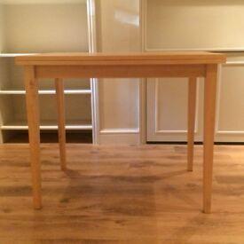 Beech Folding Table - 90cm x 62cm x 74cm high