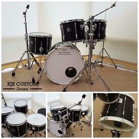 Pearl Export Custom 5 Piece Fusion Drum Kit with Carbon Fibre Wrap and Hardware