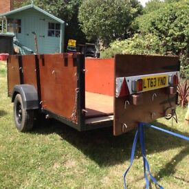 Trailer - 8ft x 4ft, 8 ply tyres, solid frame.