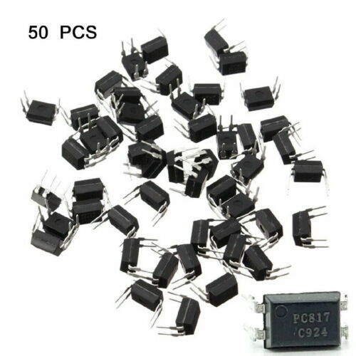 50pcs PC817 EL817C LTV817 PC817-1 80V 20mA OPTOCOUPLER Phototransistor DIP-4