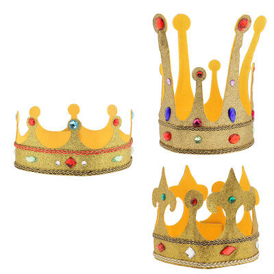 Royal King Queen Crown Hat Party Fancy Dress Kids Adult Costume Party Accessory ()