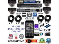 4 Cameras 4MP IP CCTV KIT, ALTEQ 8 channel NVR 1TB HDD, 4x ALTEQ 4MP Dome cameras
