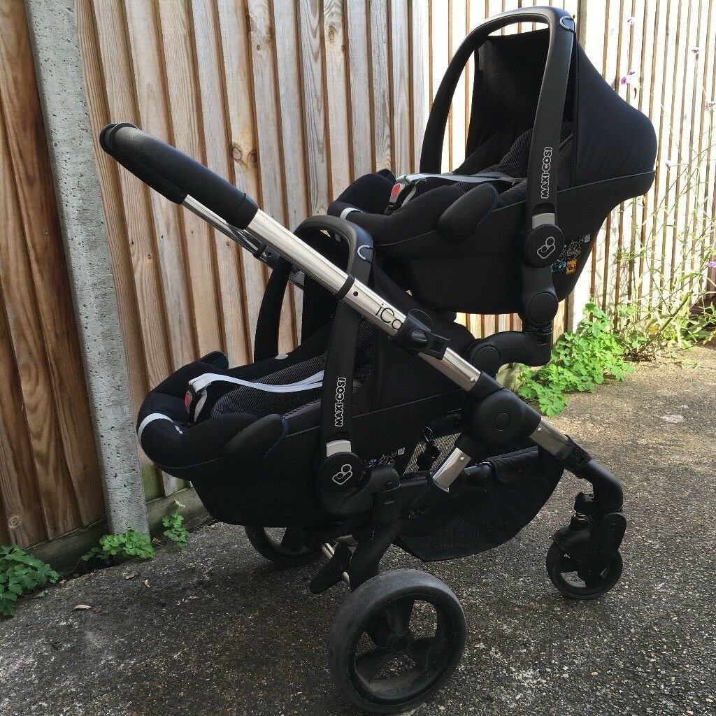ICandy Peach Blossom Twin Buggy And Maxi Cosi Car Seats