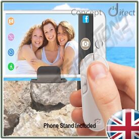 Novelty Gift Idea Selfie Zoom Remote Shutter with Phone Stand for iOS & Android✔