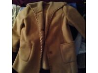 Tan Fux Suede Polarskin warm lined Jacket Size L (Immaculate condition only worn once) £55