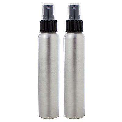 JUVITUS Aluminum Refillable Spray Bottle Mister - 4 oz (2 Pack)
