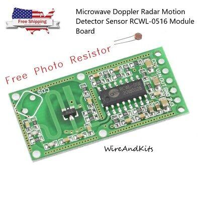 Microwave Doppler Radar Motion Detector Sensor Rcwl-0516 Module Board -us Seller