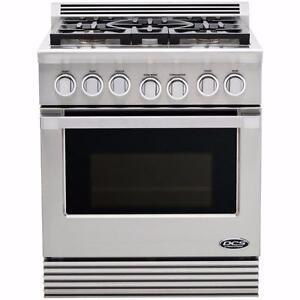 Cuisinière au gaz 30'' avec four à convection, acier inoxydable, DCS