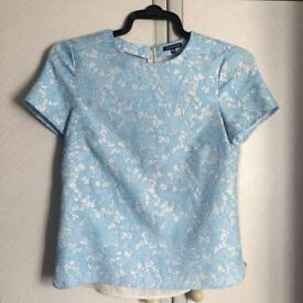 Baby Blue lace Warehouse top