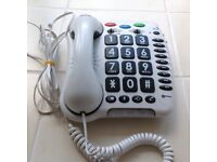Geemarc CL100 Loud Big Button Corded Telephone