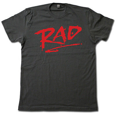 "- ""RAD"" 1980's classic BMX movie T-Shirt • COOL RETRO Cru Jones Biker Graphic Tee!"