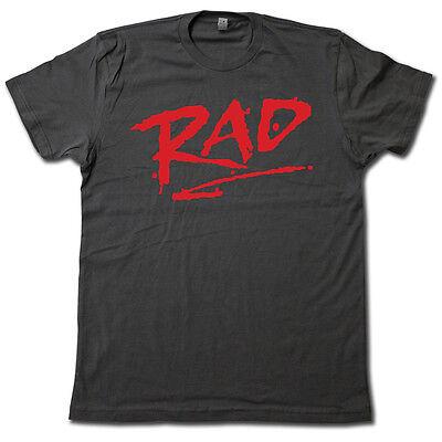 Rad  1980S Classic Bmx Movie T Shirt   Cool Retro Cru Jones Biker Graphic Tee