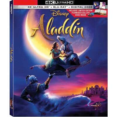 Aladdin Live Action 2019 Limited Edition(4K Ultra/Blu-Ray/Digital) with Filmmake