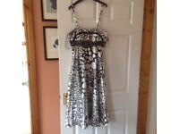 Aruba black and white formal dress size 8