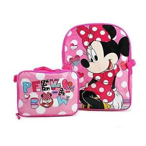 "Disney Minnie Mouse 15"" Backpack and Lunch Bag Set"