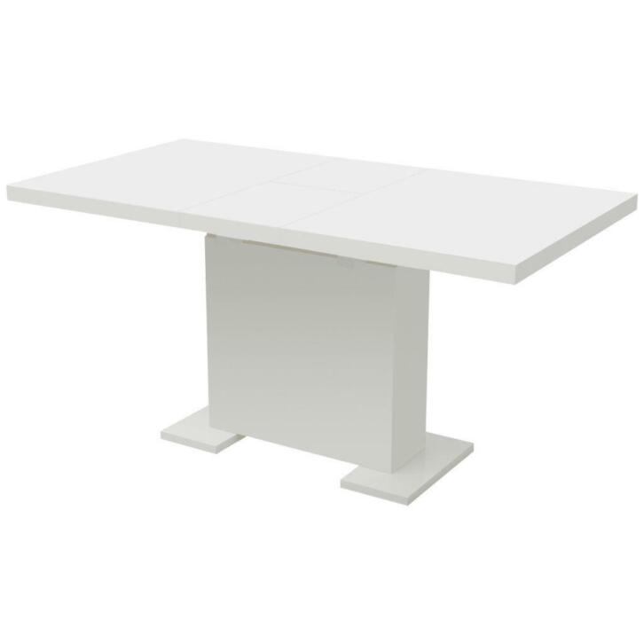 Vidaxl Table Extensible De Salle A Manger Blanc Brillant