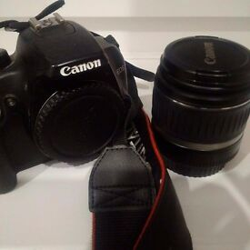 Cannon 1000D + 18-55mm lens. incl accessories.