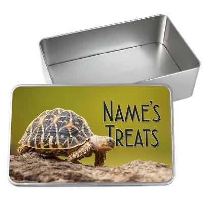 Personalised Pet Food Storage Tin TORTOISE Animal Food Container Box KS102