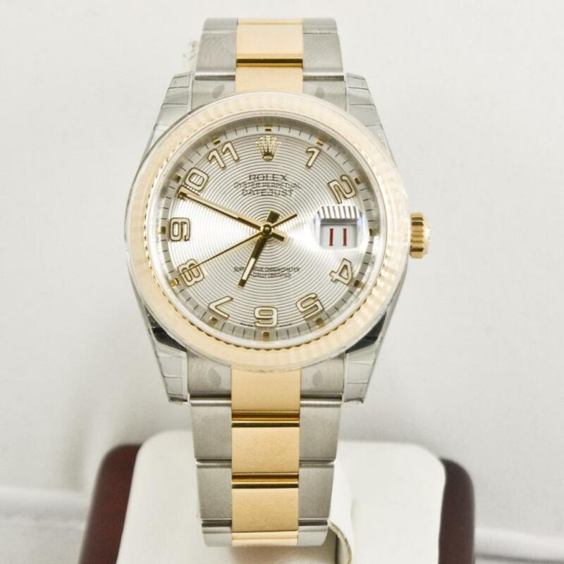 Unused Rolex Mens Steel & Gold Datejust Ref 116233 Silver Concentric Dial W Card