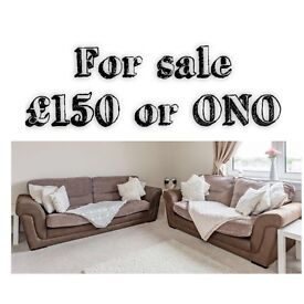 2 x 2 Seater Sofa for sale. 1 is a double sofa bed