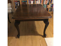 Victorian solid oak wind-out dining table, good condition