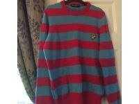 GENUINE Lyle and Scott blue and red jumper. Worn a handful of times.