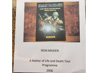 Iron Maiden A Matter of Life and Death 2006 Tour Programme
