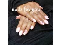 Nails and eyelashes