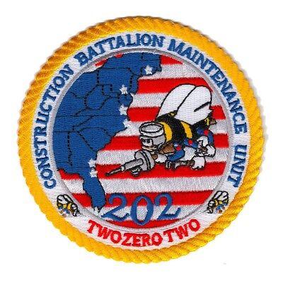 Naval Construction Battalion Maintenance Unit 202 Military Patch CBMU-202 SEABEE