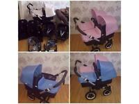Bugaboo Donkey Twin Double With Car Seats