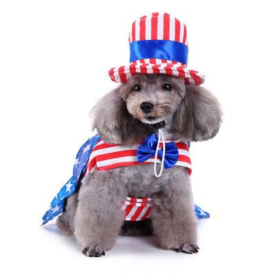Hunde Kostüm Ball Halloween Party amerikanische Flagge männlichen - Männlichen Hunde Kostüm