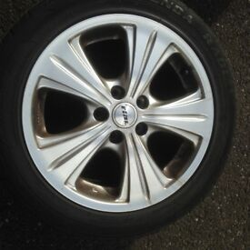 FOUR RIAL ALLOY WHEELS/ TYRES FOR SALE