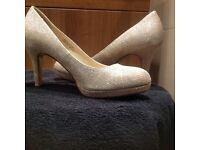 Gold sparkly shoes for graduation ball or special occasions