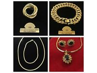 Gold Plated Costume Jewellery - 250 peices - Job lot