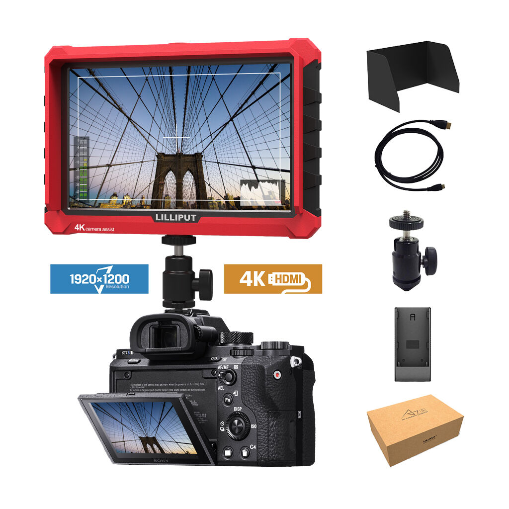 "Lilliput A7s 7"" 4K HDMI DSLR Mirrorless Camera field monitor"