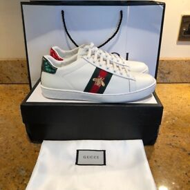 Gucci Ace Sneakers White Bee Snake Tiger Trainers All Sizes and models