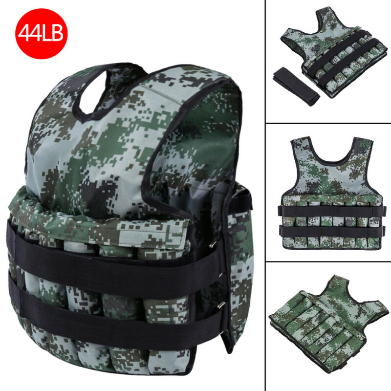 Weighted Weight Vest Adjustable Training Fitness Workout Str