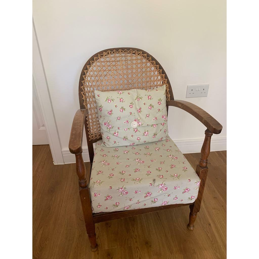 Victorian nursing chair with wicker back | in Rowlands ...