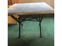 Table. Folding card table