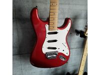 1980's Fender MIJ E-Series Stratocaster, Fuji-Gen factory (Candy Apple Red)