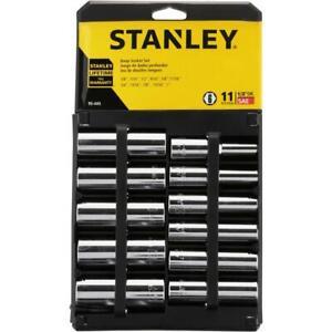 stanley Ensemble de 11 douilles profondes 1/2 drive de 3/8 a 1 neuveee