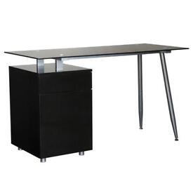 Spic desk in black gloss