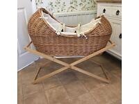 Mothercare The Snug Wicker Moses Basket and Stand